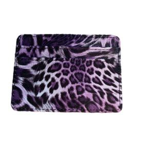 NWOT Purple animal print card and money wallet